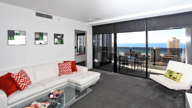 Circle on Cavill Level 19 Ocean Views Living Area