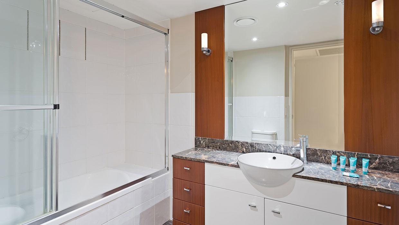 Chevron Renaissance level 6 garden views shared bathroom with bath