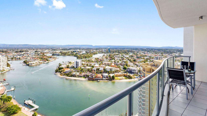 Chevron Renaissance Level 23 views from the balcony