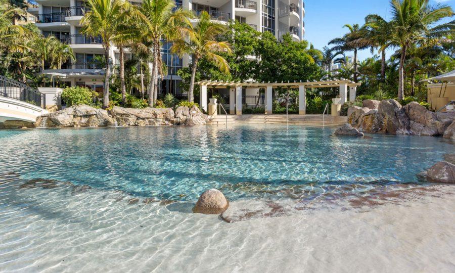 Chevron Renaissance lagoon pool