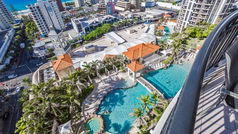 Chevron Renaissance pool view