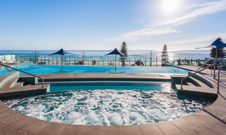Soul Surfers Paradise infinity pool ocean view