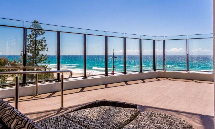 Soul Surfers Paradise ocean view sun terrace